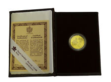 1990 Canada 100 Gold Dollars. 1/4 Oz. Queen Elizabeth II. Box & COA