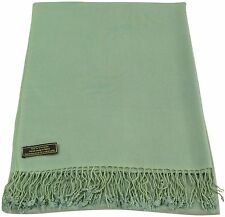 Laurel Green Solid Colour Design Nepalese Shawl Pashmina Scarf CJ Apparel *NEW*