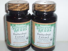 BUTTERBUR EXTRACT 75MG STOMACH PAIN ULCER MIGRAINE RELIEF 120 CAPSULE 2 BOTTLES