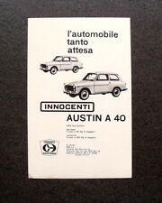 [GCG] M597 - Advertising Pubblicità - 1960 - INNOCENTI AUSTIN  MORRIS A 40
