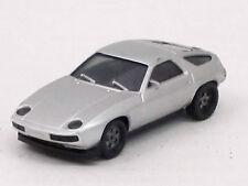 Porsche 928 in silbermetallic, o.OVP, unbespielt, Heckspoiler fehlt, Herpa, 1:87