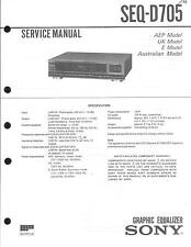 Sony Original Service Manual für SEQ-D 705