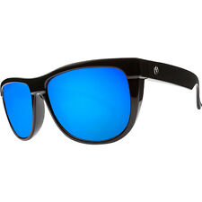 Electric FLIP SIDE Sunglasses Gloss Black - Grey Blue Chrome Lens