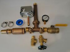 BRASS 1x11 PRESSURE TANK TEE KIT- UNION- VALVES- POLY ADAPTER SQUARE D M4 3050