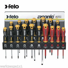 FELO 17 pcs Screwdriver Set with Wallsupport from Steel Torx PH PZ LS