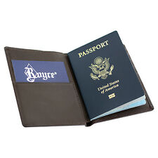 Royce RFID Blocking Passport Currency Wallet, Full Grain Nappa Leather, Coco