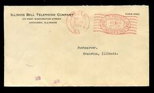TELEPHONE METER FRANKING 1936 USA BELL...ADDITIONAL 1c OVAL CHICAGO