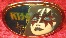 """KISS Ace Frehley 3 1/2"""" Metal Belt Buckle By Pacifica Mfg. LA. California"""