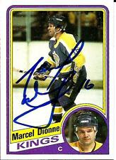 1984 Topps Marcel Dionne LOS ANGELES KINGS Signed Auto Trading Card