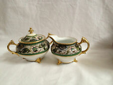 Antique Japanese Nippon Hand Painted Porcelain Creamer & Sugar Bowl
