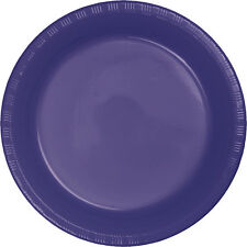 "20 Purple Wedding Birthday Party Tableware 9"" Plastic Lunch Plates"