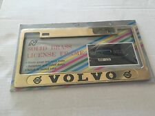Volvo License Plate Frame - gold