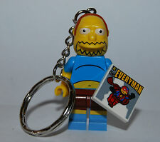 LEGO LLAVERO DE CHICO DE LOS COMICS - THE SIMPSONS KEYCHAIN JEFF ALBERTSON
