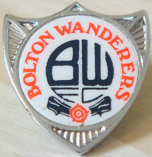 BOLTON WANDERERS Vintage 1970s insert type badge Brooch pin Chrome 29mm x 31mm