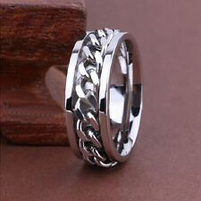 20 X Spinner silver chains Stainless steel Ring Jewelry lots wholesale