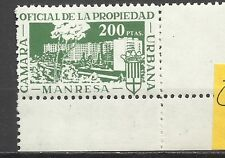 300--SELLO MNH FISCAL LOCAL ANTIGUO  CORPORATIVO MANRESA CAMARA PROPIEDAD URBANA