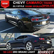 10-13 Chevy Camaro ZL1 Style Trunk Spoiler Painted Black WA8555