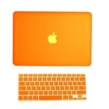 "2 in1 Rubberized ORANGE Hard Case for Macbook White13"" A1342 with Keyboard Cover"