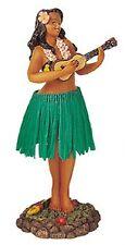 New Hawaiian Hawaii Dashboad Hula Dancer Doll Girl Ukelele Green