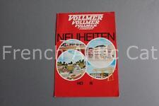 E629 Catalogue Train Ho N VOLLMER Neuheiten DM 4 pages maquette maison carrière