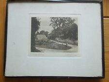 ANTIQUE PRINT 1931 ARTHUR HILL COTTAGE SEPIA PHOTO MOUNTED AND FRAMED VINTAGE