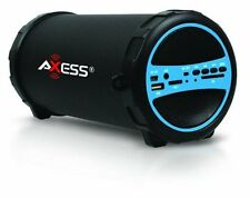 Axess MP3 MP4 Player Accessories SPBT1031-BL Portable Bluetooth Indoor/Outdoor