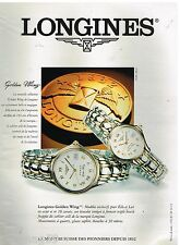 Publicité Advertising 1995 Les Montres Golden Wing par Longines