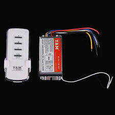Home 220V-240V 3 Channels Ports Digital Wireless Remote Control Wall Switch