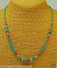 Schöne Halskette aus Nepal Türkis Kette Schmuckstück Indien a62/2