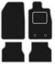 SAAB 9-3 CONVERTIBLE 1998-2003 TAILORED BLACK CAR MATS WITH SILVER TRIM