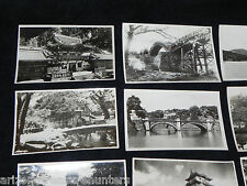 Vtg Set of 10 Black/White Photos Souvenir Postcards - Japan - Very good conditio