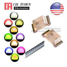 10 Lights 200PCS 0603 (1608) SMD SMT LED Diodes White Red Yellow Purple Mix Kits