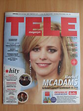 RACHEL MCADAMS on front cover TELE MAGAZYN 14/2016 in.Johnny Depp