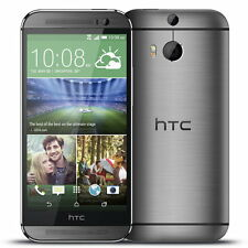 "HTC One M8 Android 5"" HD 32 Go Double 4 Mpx 4G LTE NFC neuf libre french gris"