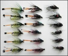 18 Wet Trout Flies.For Fly Fishing Bibio & Bumbles Mixed Size 10 & 12,
