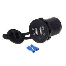 12V/24V Dual USB Motorrad Auto Ladegerät Steckdose Zigarettenanzünder Adapter