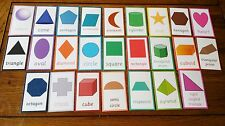 25 - 2d formas + 3d Shapes-Laminado-Tarjetas Flash-eyfs KS1 Ks2