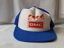 Good GMC Vintage Trucker Hat Foam Mesh Adjustable Blue White