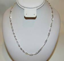 "Sterling Silver Circle Link Chain Necklace 18""L NWT"