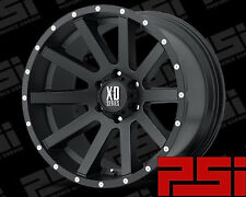 "22"" INCH KMC HEIST XD818 WHEELS X4 RIMS ALLOYS 4X4 OFF ROAD"