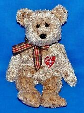 "Ty 2002 SIGNATURE BEAR Brown Silky Soft (8.5"") Beanie Baby Boys Girls 3+ NT"