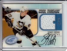 2005-06 Upper Deck Ice SIDNEY CROSBY RC Cool Threads Autographs JERSEY AUTO / 35