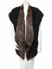 STUNNING, NEW $3,900 SOLD OUT DOUBLE-SIDED DONNA KARAN OPEN SHEARLING FUR VEST