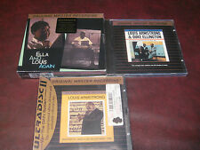 LOUIS ARMSTRONG ELLA DUKE TOGETHER AGAIN MFSL 24 KARAT GOLD SEALED RARE 4 CDSET