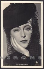 DOROTHEA WIECK 06 ATTRICE ACTRESS SCHAUSPIELERIN CINEMA - CAPPELLO HAT Cartolina