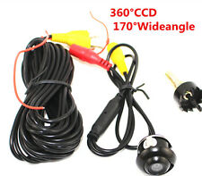 Mini 360° CCD HD Car Front Side Reverse Camera / Rear View Parking Color Spy Cam