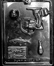 FISHING KIT mold candy chocolate dad bass birthday fathers day gone fishing