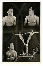 3 Siegfrieds Artisten im Zirkus Bodybuilder Muscle Male in Circus um1935 Gay int