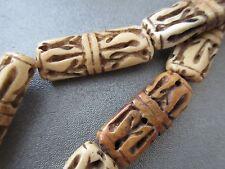 Camel Bones Carved Beads 6pcs