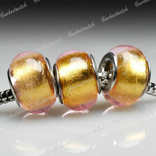 5pcs murano glass European beads charm fit bracelet necklace wholesale LB0053